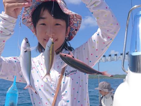 宮古島 手ぶらで釣り体験ツアー 広島県からお越しのY様ファミリーご一行