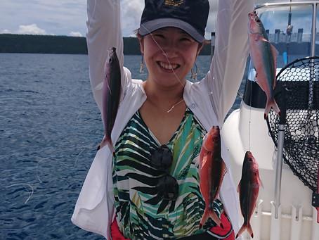 宮古島 釣り体験ツアー 埼玉県からお越しのK様Yさん御一行
