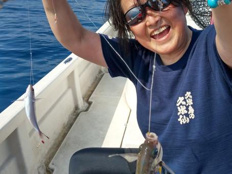 宮古島 釣り体験ツアー グルクン釣り 神奈川県からお越しのH様ご夫婦
