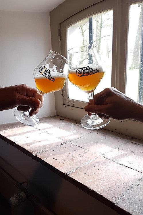 """Hét """"Uit de kelders van Udenhout"""" bierglas"""