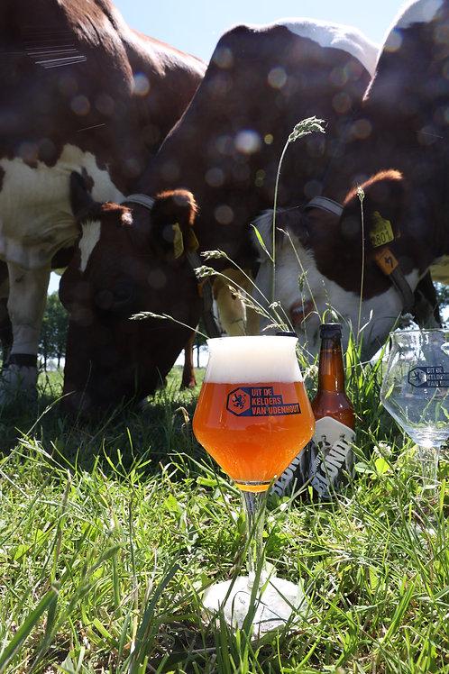 """""""Uit de kelders van Udenhout"""" bierglas"""