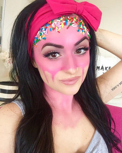 Melting Ice Cream Girl YouTube Video link is up in my IG Bio now! 🍦🍭 _officialsnazaroo Face Paint