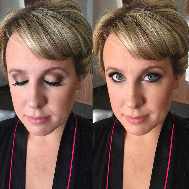 Maid of Honor Makeup 😍 _dinairofficial Airbrush _anastasiabeverlyhills Concealer & Contour Powder J