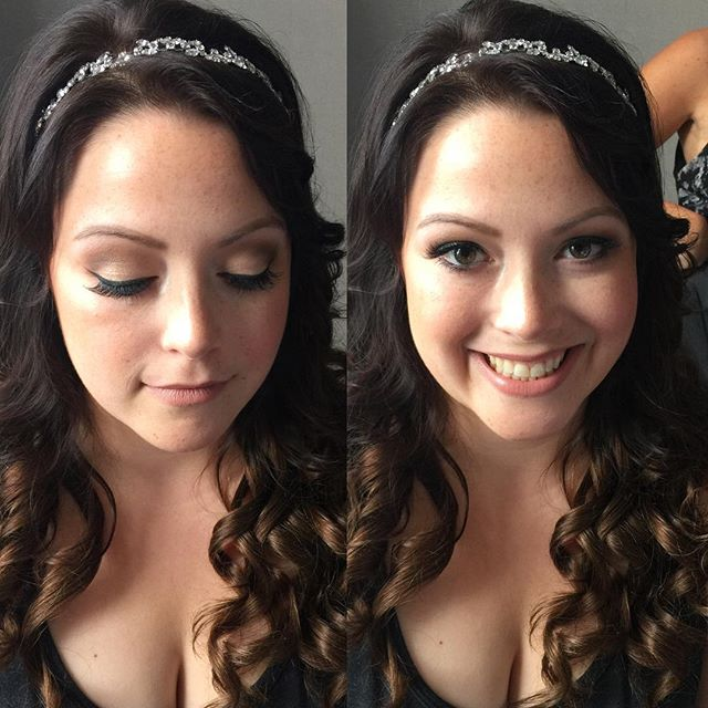 One of my brides from last weekend! 😍 _dinairofficial Airbrush _anastasiabeverlyhills Concealer & C
