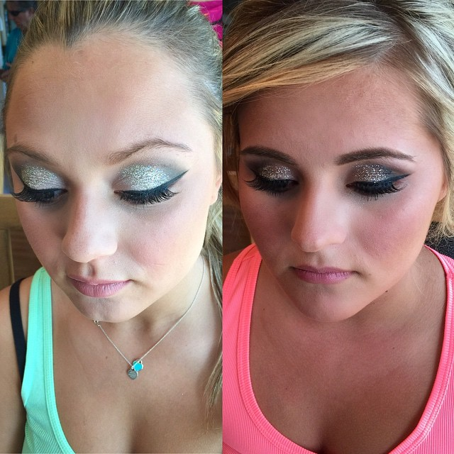 Yesterday's prom cuties! 😍 _dinairofficial Airbrush _anastasiabeverlyhills Contour Powders _ardell_