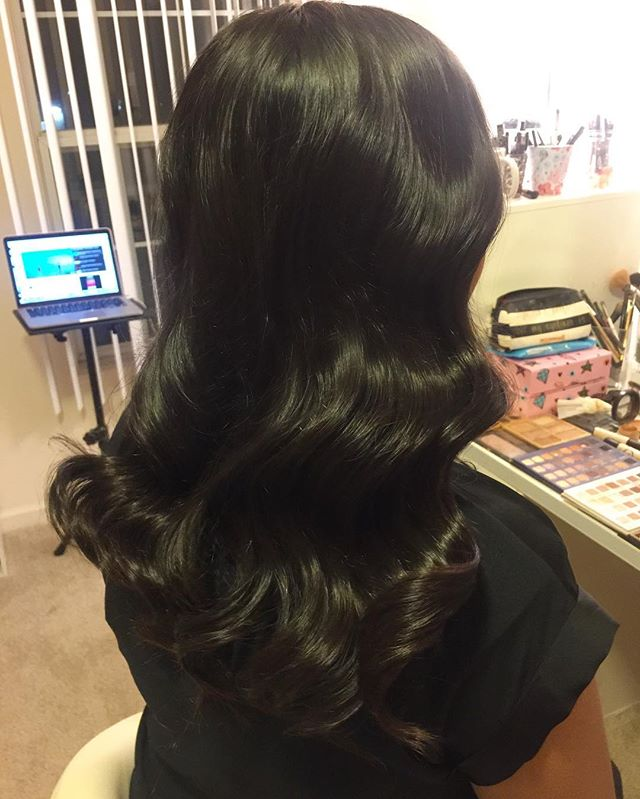 Gorgeous shiny glam waves, yes please