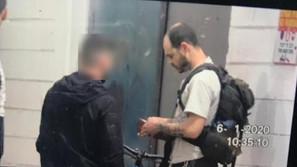 תועד בהפרת סדר בשומרון - ונעצר בעבודתו בתל אביב