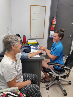 Anne in office