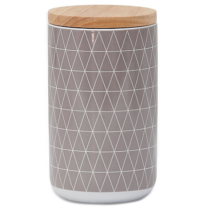 Geo Grey Canister Extra Large