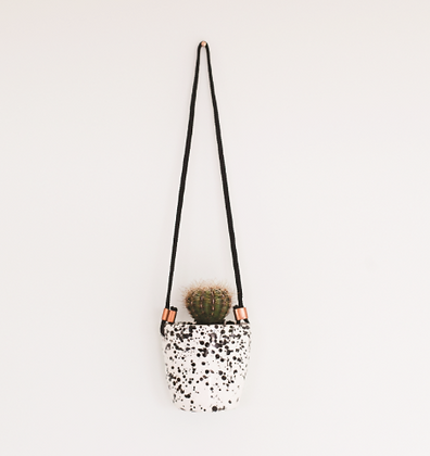 Splatter Hanging Cup - Black and White