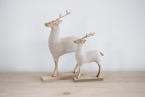 Natural Wooden Deer Small