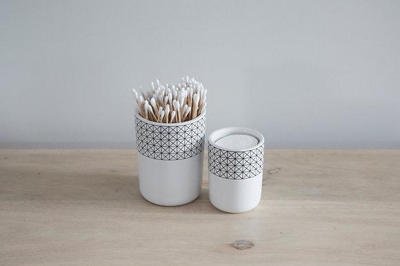Squares Ceramic Jar Sml