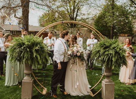 Raquel + Josh: Intimate Backyard Wedding