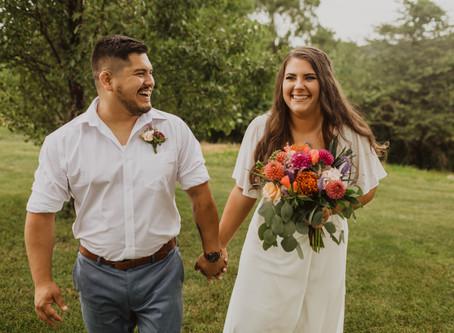 Molly + Adrian's Hawaii Inspired Backyard Wedding