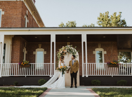 70s Inspired GOLDEN Intimate Wedding Styled Shoot