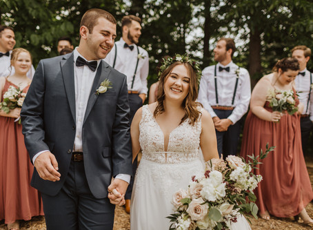 Annie + Jared's Intimate Backyard Wedding in Minnesota