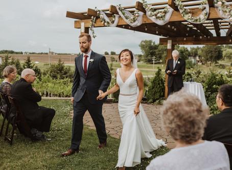 Catherine & Jason's Intimate Iowa Winery Wedding