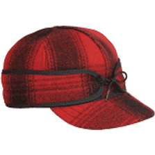 Stormy Kromer Black/Red Tartan Wool Cap