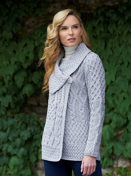 Super Soft Grey One Button Cardigan