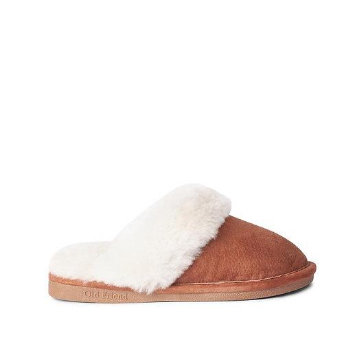 Ladies' Sheepskin Scuff Slipper with Hard Sole