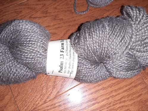Lauras White and or Grey  2 ply Worsted weight Yarn