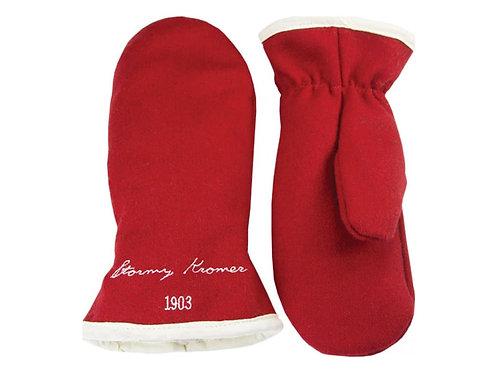 Stormy kromer benchwarmer red & White Wool Mittens