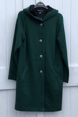 Michael Tyler Boiled Wool Coat with Hood