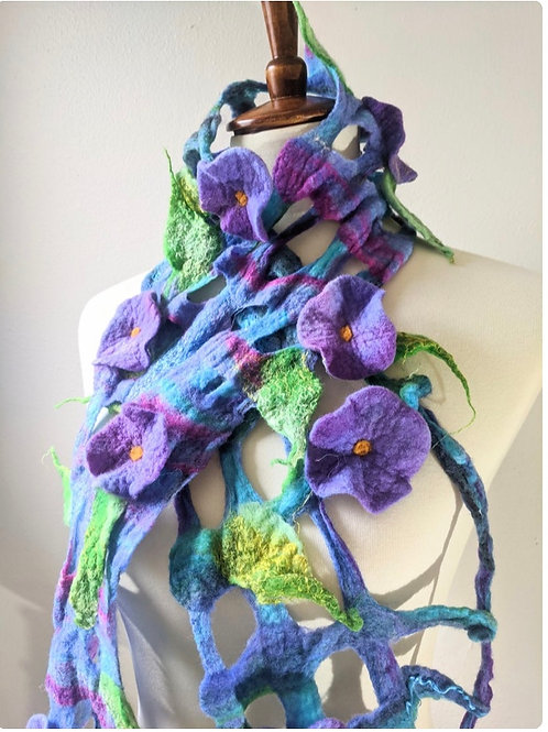 Lattice and Flowers Scarf