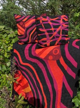 Woven Wool Rug- Matching Pillows