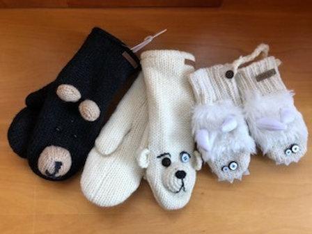Knit Wits Wool Knit Mittens