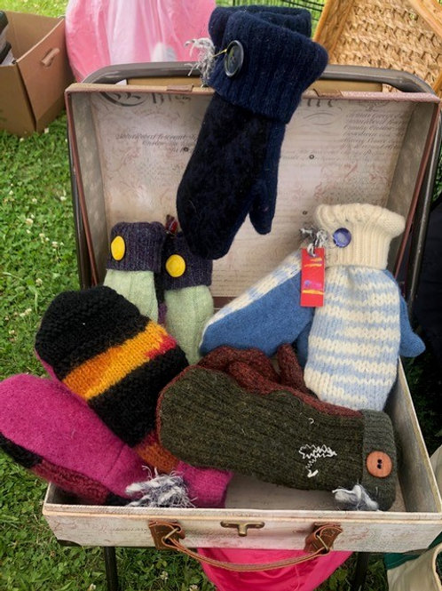 Mittens  made from Wool Sweaters