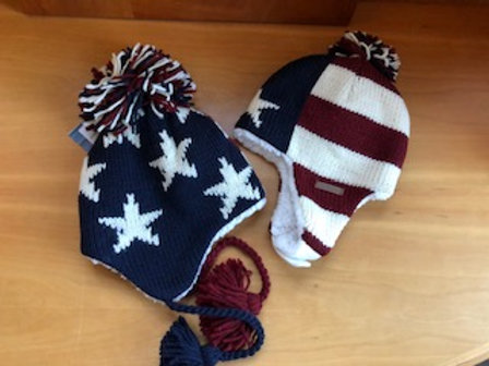 Stars and Stripes Pilot Hat for both Infants and  Kids