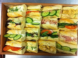 mixed baguette platter