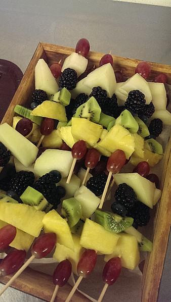 fresh fruit kebabs