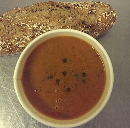 homemade tomato & basil soup