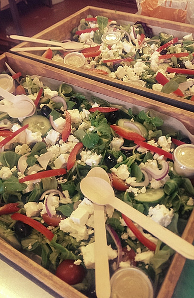sharing salads