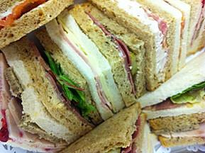 christmast sandwich selection