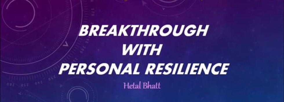 Building Peronsal Resillience