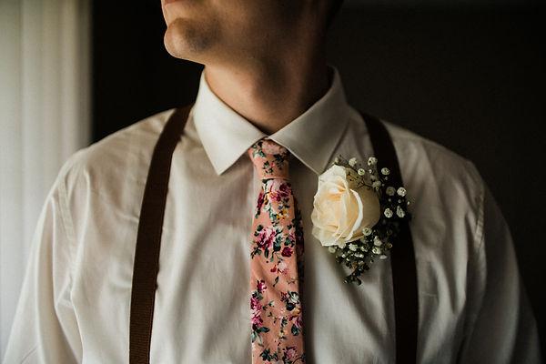 groom floral tie