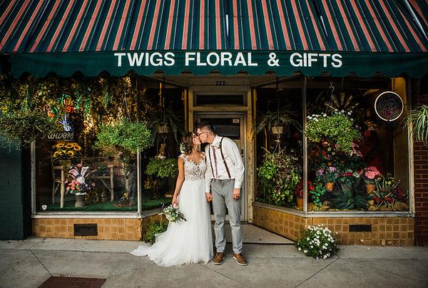 bride and groom flower shop