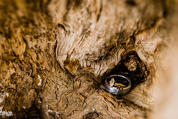 wedding ring on wood