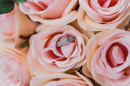 wedding ring in flowers