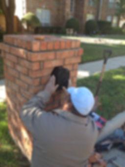 Repairing a Brick Column Mailbox