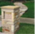 Stone Column Mailbox with Modern Locking Column Insert