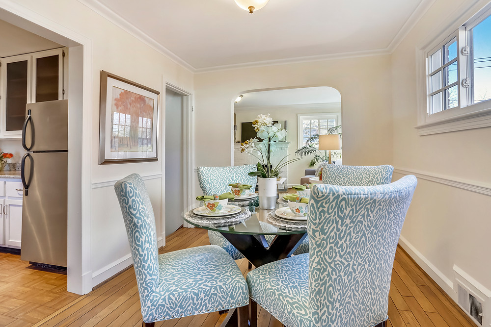 After home staging the dining room is ready for guests