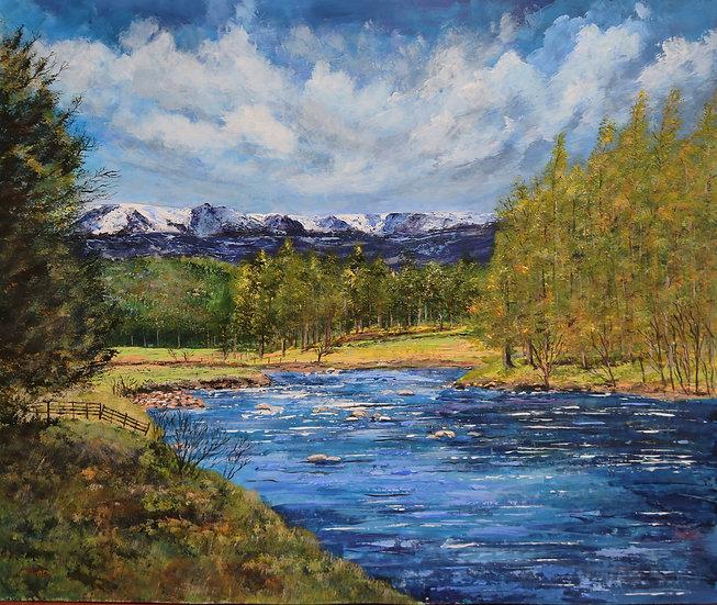 'Beinn 'a Bhuird & River Dee, nr Braemar' Anne Fenton