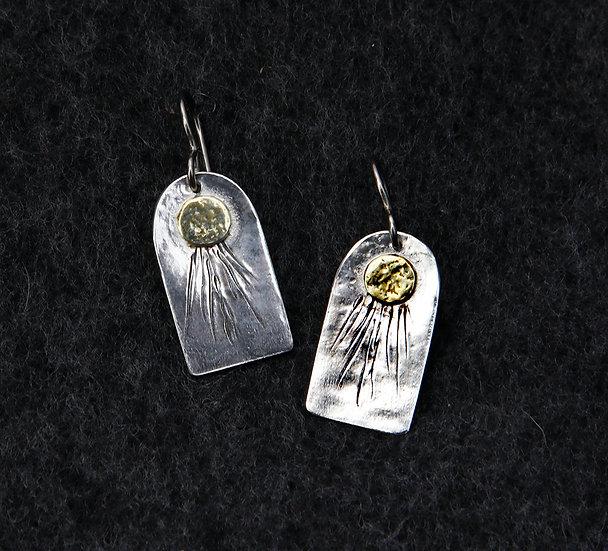 'Silver 22k coating earrings'  Lorna Purvis