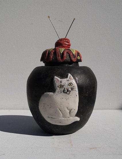 'Knitter's Delight Jar' Susan MacInnes