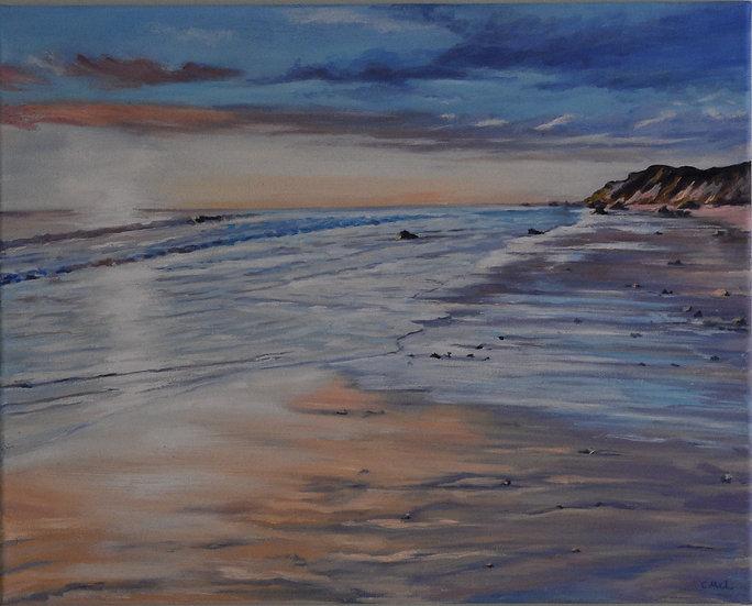 """Sunset on the beach"" Christine McLennan"