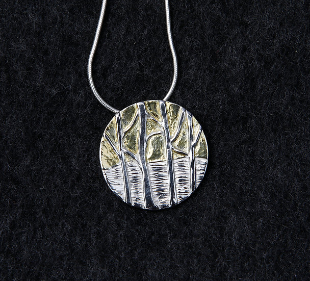 'Silver, tree Necklace' Lorna Purvis